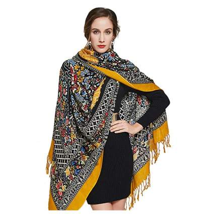 large wool pashmina shawl