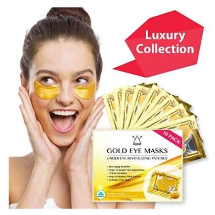 gold and collagen under eye mask
