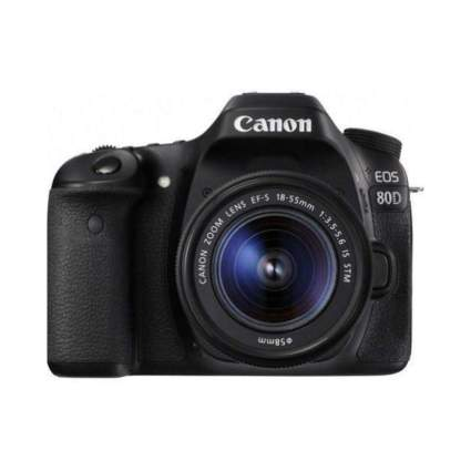$450 Off $450 Off Canon Digital SLR Camera Body [EOS 80D] with EF-S 18-55mm f/3.5-5.6 Image Stabilization STM Lens
