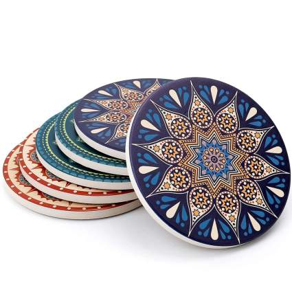 decorative stone coasters