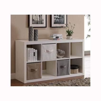 white 8 cube room organizer shelf