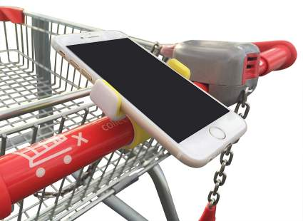 grocery cart phone clip