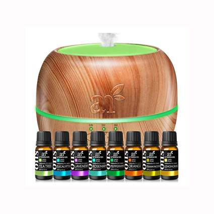 aromatherapy diffuser and essential oils gift set