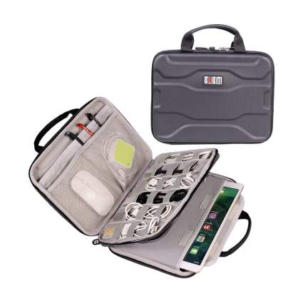 Grey electronics case and organizer