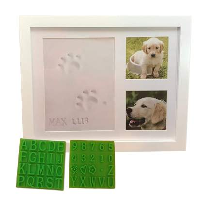 Dog paw print keepsake kit