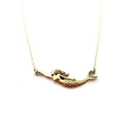 Bronze mermaid necklace