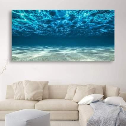 Wall art of underneath the ocean