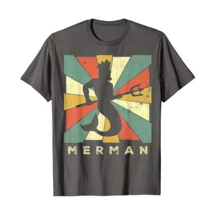 Retro style merman t-shirt
