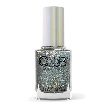 silver holo nail polish bottle from Color Club