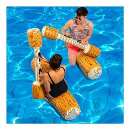 Log battle pool float toys