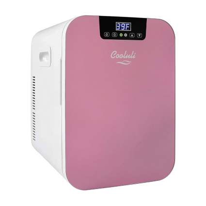 pink beauty fridge