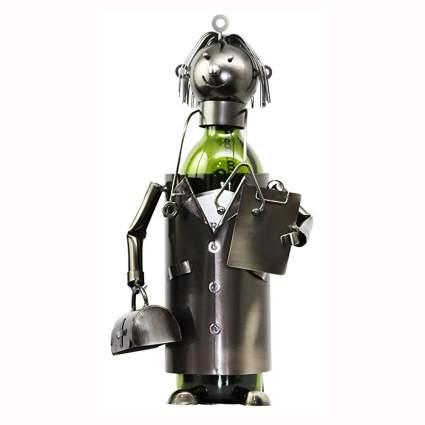 metallic art doctor wine bottle holder