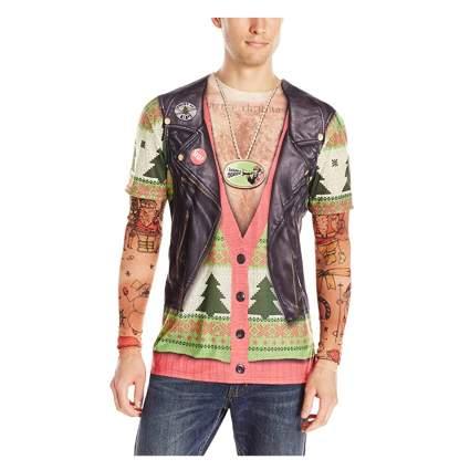 biker ugly christmas shirt