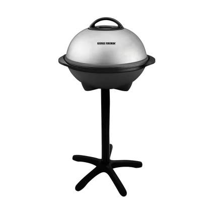 Silver George Foreman stand alone grill