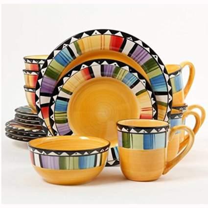 colorful 16 piece dinnerware set