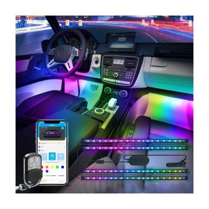 Rainbow car interior lights