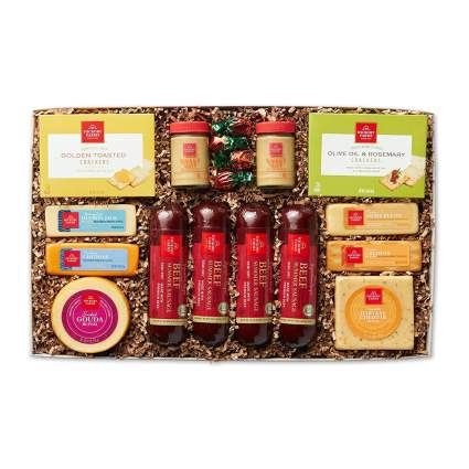 hickory farms meat and cheese box