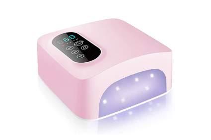pink cordless nail lamp