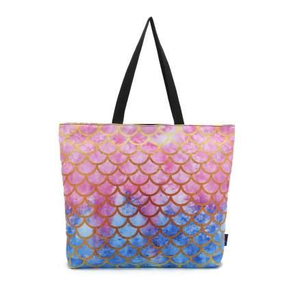 Pink and blue mermaid scale bag
