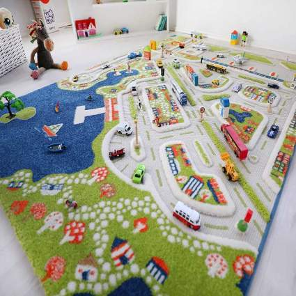 IVI Mini City Thick 3D Kids Play Rug