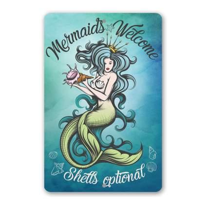 Cheeky mermaid sign