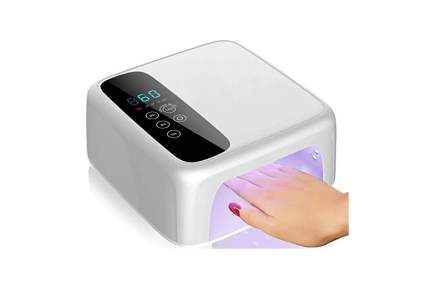 nail lamp with hand