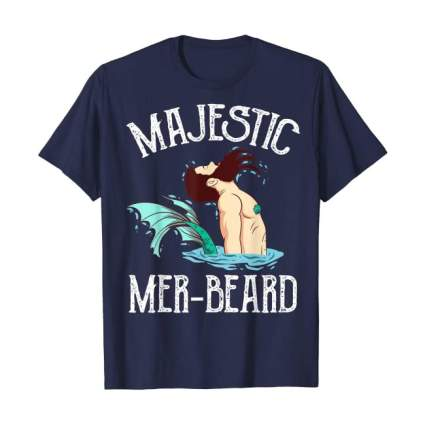 Mer-beard shirt with merman