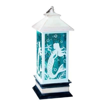 White and blue mermaid lantern