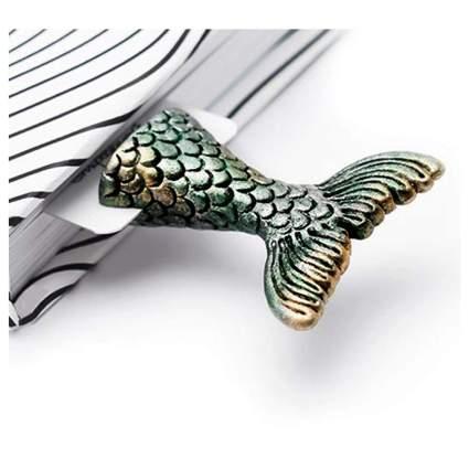 Metal mermaid tail bookmark