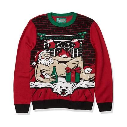 naked santa ugly christmas sweater