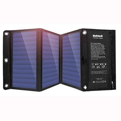 21W Solar Charger with 2 USB chargers
