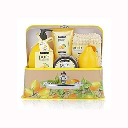 lemon scented bath gift set