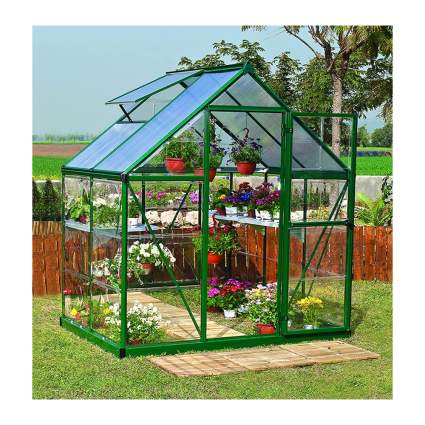 small backyard greenhouse