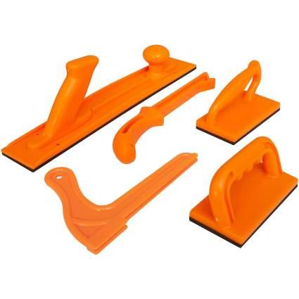 orange plastic push block set