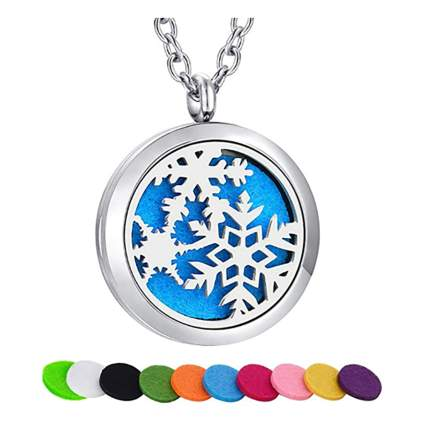 snowflake diffuser necklace
