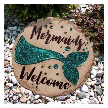 Mermaid tail stepping stone