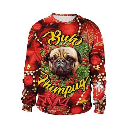 Ugly pug christmas sweater