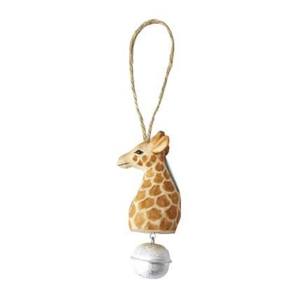 Giraffe ornament with bell