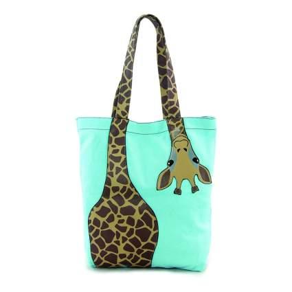 Light blue giraffe bag