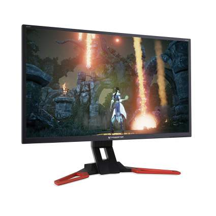 Gaming monitor with video game combat image