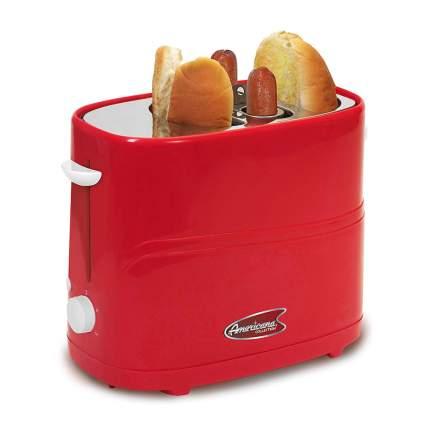 Red retro hotdog cooker