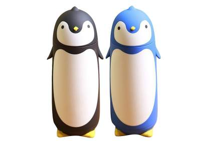 Two penguin thermoses