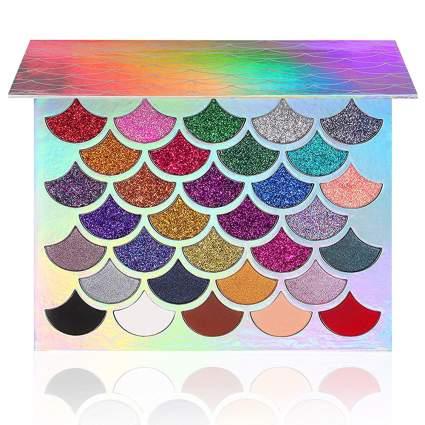 Glitter eyeshadow palette