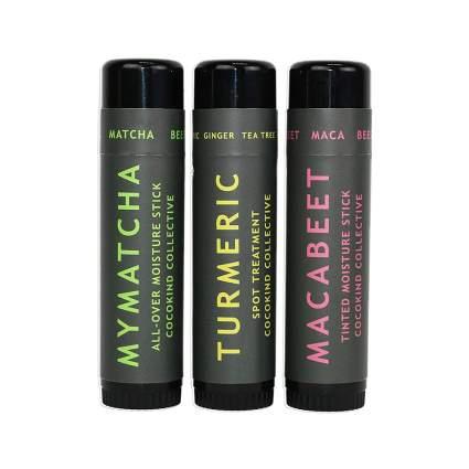 set of three cocokind moisture sticks