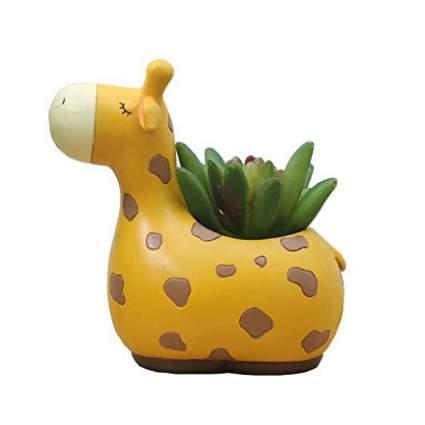 Giraffe succulent pot