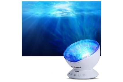 Blue ocean water projector