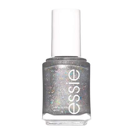 Silver glittery essie polish