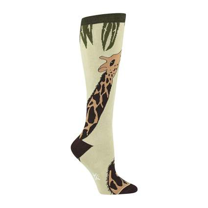 Kneesock with long giraffe neck