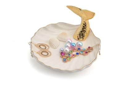 Seashell jewelry holder with mermaid tail
