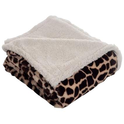 Giraffe print blanket